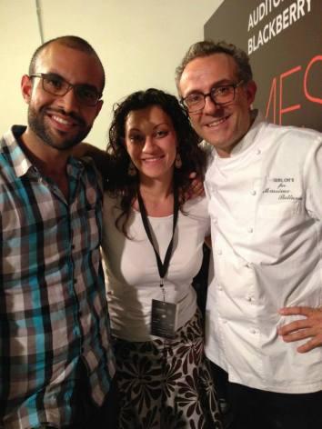 Junto a Massimo Bottura y mi colega Teresa Carrada.