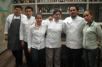 Equipo de Trabajo del Chef Yiannis Rojas en Zicanda. Febrero 2014.